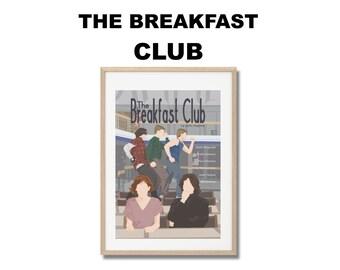 The Breakfast Club Movie Print - Poster John Hughes A3