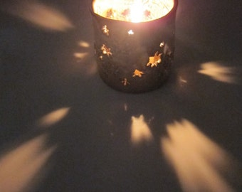 Hand Made Funky Star Candle Holder