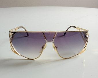 1980s MAGA DESIGN gold silver sunglasses