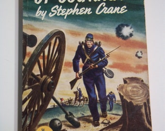 The Red Badge of Courage by Stephen Crane Pocket Books #154 1949 Vintage Paperback