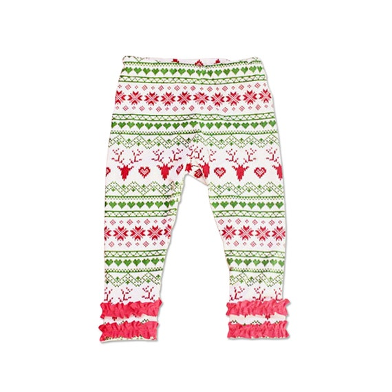 Christmas Leggings Girl Christmas Pants Fair Isle Leggings