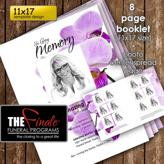 11x17 8 page booklet purple orchids by thefinalefnrlprgrms. Black Bedroom Furniture Sets. Home Design Ideas