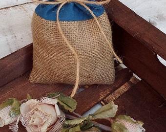 Burlap and Cotton Favor Bag - Wedding Favour Bags - Burlap Favour Bags - Burlap Gift Bags - Rustic Favor Bags  - Wedding Memento - Set of 25