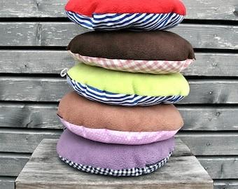 Round cushion for children, travel, floor carpet pillow