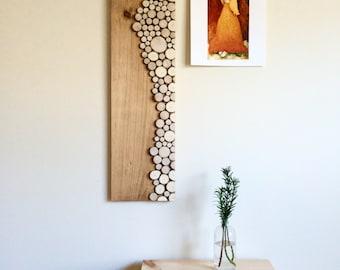 """Wood Art Wall Piece - """"Na Beregu"""""""