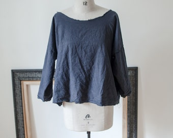 Organic Ethical Cotton Smock Blouse Sustainable Fashion // available natural with no dye