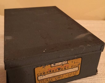 Vintage 1950s Kodak Kodaslide Compartment Box - Slide Storage Tray Box