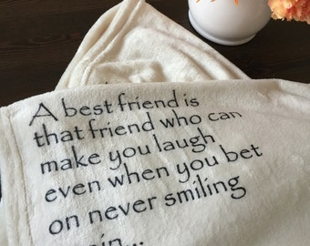 Personalized Custom Throw Blanket for your best friend!