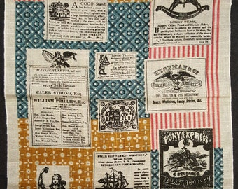 Americana - Vintage Tea Towel - 100% Linen - Never Used