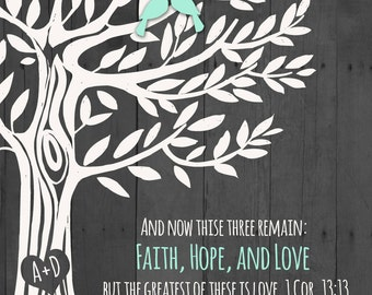 Printable 1 Corinthians 13:13 Love Family Tree  >>> Wedding Gift  >>> Engagement gift, Anniversary Gift for Couples