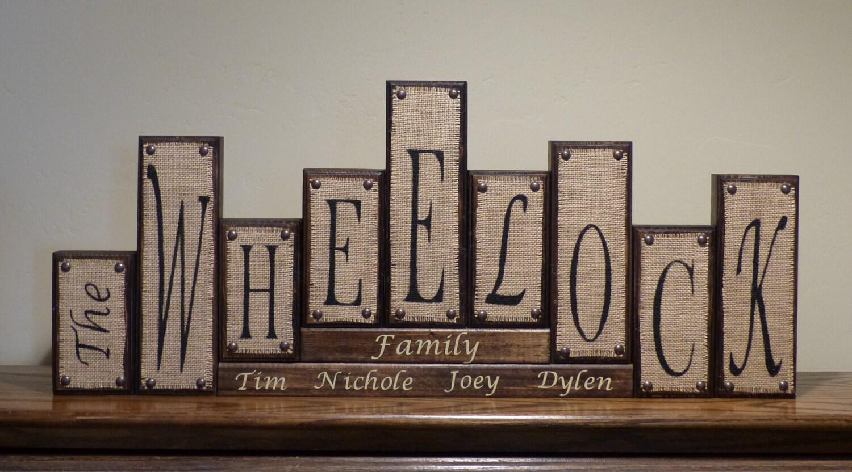 word blocks home decor family name block letters home family home decor wood word blocks letter sign