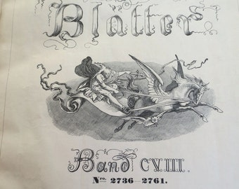 Fliegende Blatter - Rare Antique German Book - Victorian Collection of Illustrated Humor Magazines