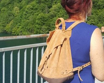 Ruckback - Backpack - Leather backpack - Leather rucksack - Backpack women -  Handmade in genuine leather.