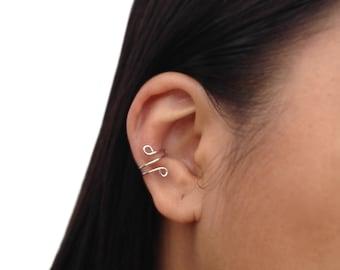 Silver Ear Cuff, No Piercing Cartilage Earrings