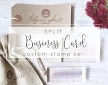 Split Custom Business Card Stamp