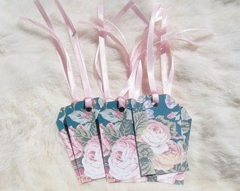 FLORAL GIFT TAGS Roses 15 Tags Recycled Gift tags Flower Gift Tags