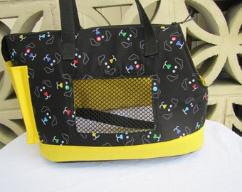 Large Black and Yellow Dog Carrier