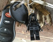 Star Wars The Force Awakens Hooded Kylo Ren Lego Style Mini-Figure Key Chain With Custom Gift Box and Lightsaber