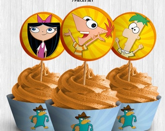 Phineas & Ferb Cupcake Decor