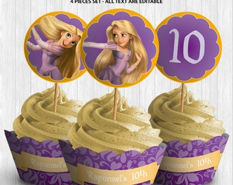 Rapunzel Cupcake Decor
