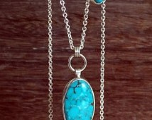 Carico Turquoise Necklace, Sterling Silver, 14k Gold, Bisbee Turquoise, Beaded Necklace
