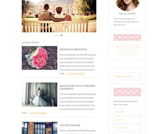 Introductory SALE!! | WordPress Premade Theme: Feminine Wordpress Theme for Instant Download