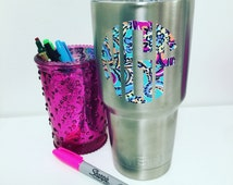 Lilly Pulitzer Yeti Monogram, Lilly Water Bottle Monogram, Lilly Pulitzer Tumbler Monogram, Preppy Yeti Monogram
