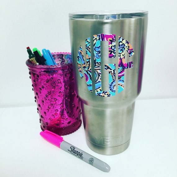 Lilly Pulitzer Yeti Monogram Lilly Water By