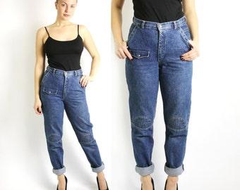 Peg leg jeans | Etsy
