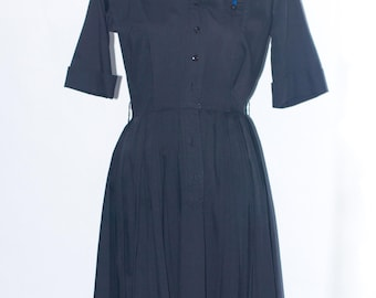 50's Little Black Shirt Dress by Westbury Fashions vintage