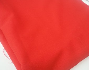 Bright Red Light Weight Cotton Polyester Blend Fabric (2 yards)