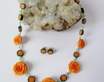 Rose Collier in Orange