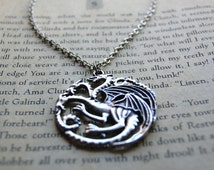 Khaleesi Mother of Dragons Symbol Necklace Game of Thrones Stormborn Daenerys Targaryen House Crest Dothraki Nerd Geek FanGirl Geekery Jon