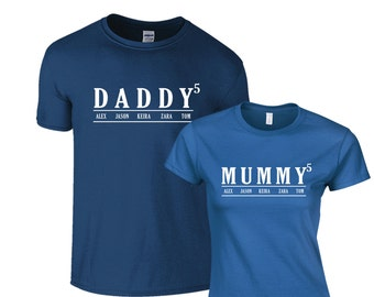 Mummy Daddy personalized tshirt, Pregnancy Announcement, Maternity Shirt, name shirt, customized top, family tshirt, mom and dad gift