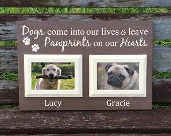 Pet loss gift - Personalized Dog Frame - Pet Sign - Pet Sympath Gift - Dog Photo Frame - Dog Memorial Frame - Pet Lover Gift  - Loss of Dog