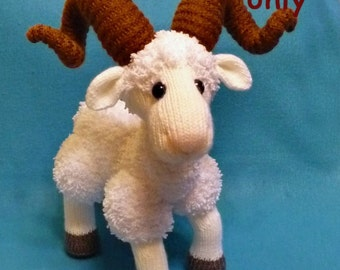 Mountain Goat, amigurumi knitting pattern