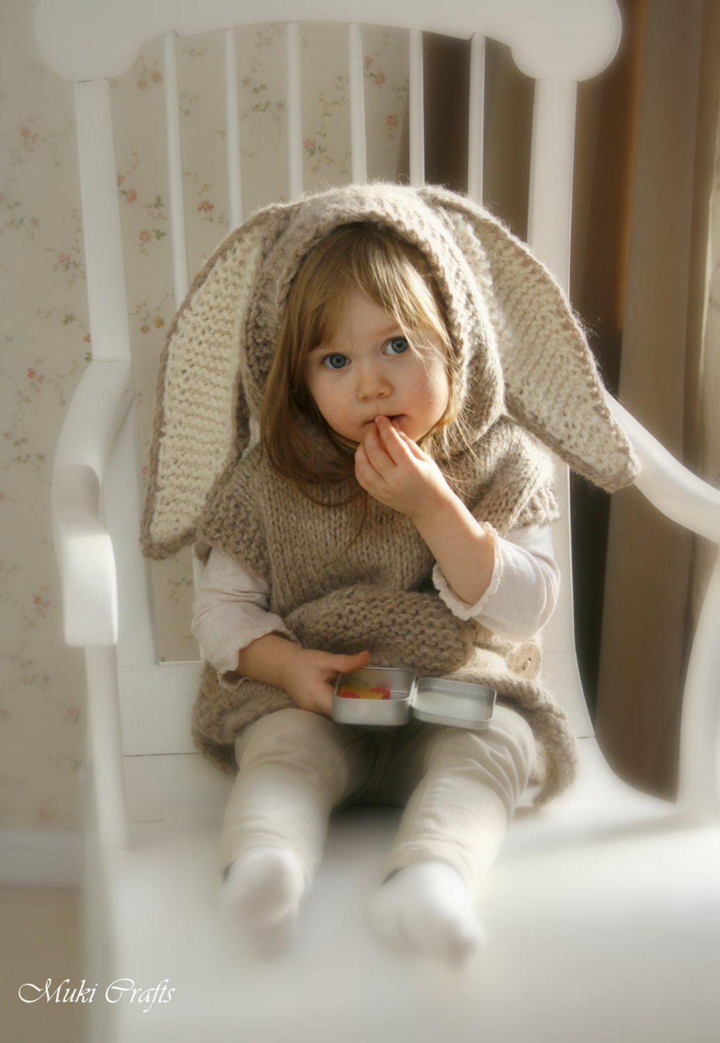 KNITTING PATTERN bunny poncho with hood and Phoebe by ...