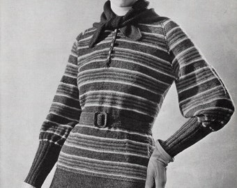 """1934 """"Olympic Sport Suit and Beret"""" PDF knitting pattern"""