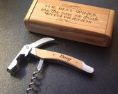 Beautiful Personalized Corkscrew and Case