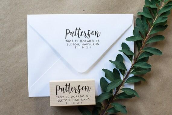 Custom Address Stamp, Wedding Address Stamp, Return Address Stamp, Self Inking Address Stamp, Wood Address Stamp, Housewarming Gift - RA1