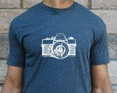 Camera T-Shirt - Mens - Unisex - American Apparel - Black - Photography