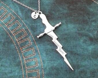 Dagger Necklace LARGE Kris Necklace Kris Dagger Pendant Necklace Silver Dagger Charm Necklace Sword Necklace Sword Jewelry Dagger Jewelry