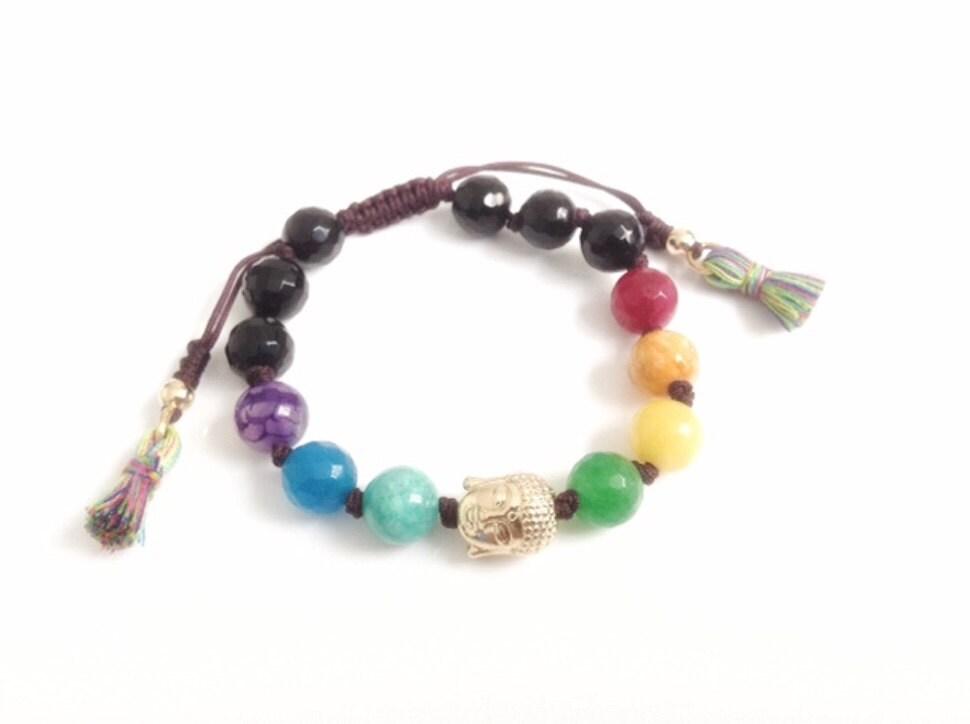 7 chakra healing balance bracelet buddha bracelet
