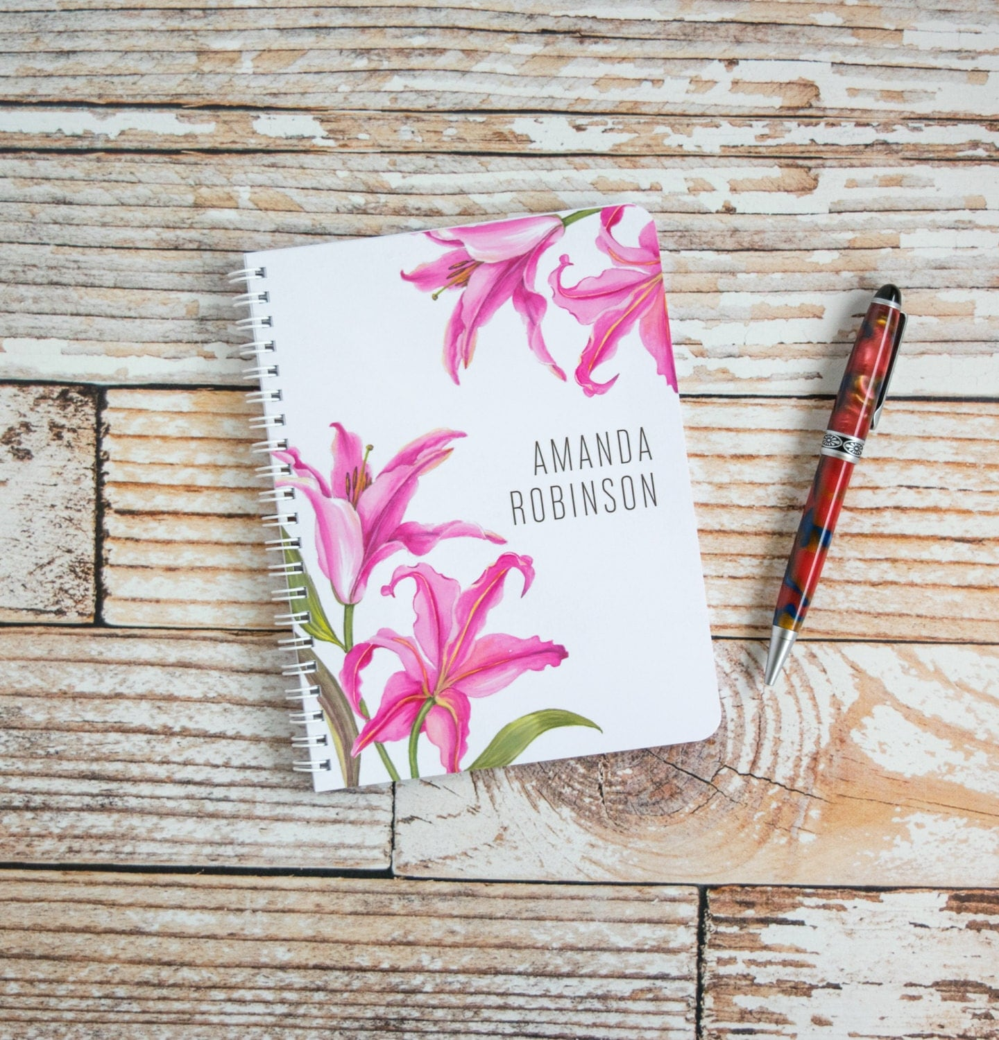 Bridesmaids Gifts Personalized Spiral Notebook Custom Journal