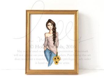 SunnySide (Fashion Illustration Print)