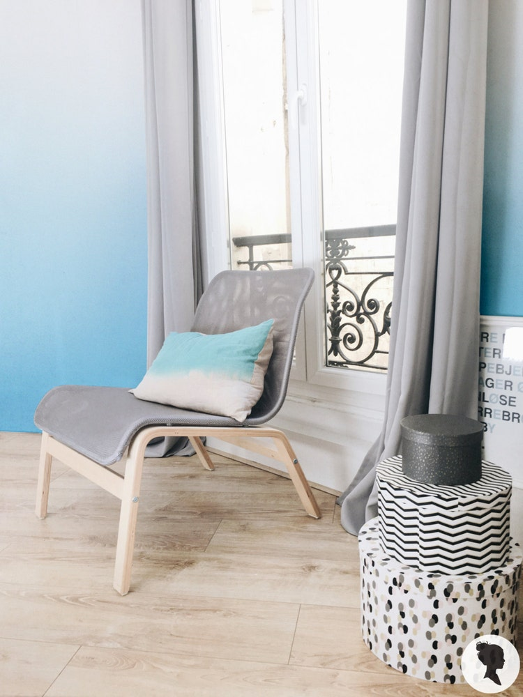 ombre peel and stick removable wallpaper z035 by livettes on etsy. Black Bedroom Furniture Sets. Home Design Ideas