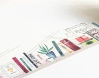 Bookshelf washi tape