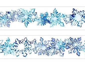 Snow washi tape set (2 roll)