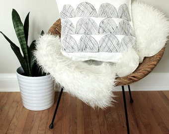 Hand Painted Modern Pillow Cover