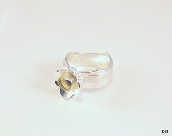 Ring of silver and gold